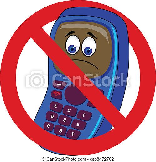 mobile phone forbidden - csp8472702