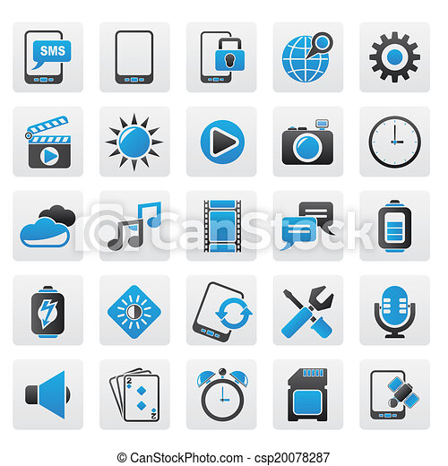 Mobile Phone Interface icons - csp20078287