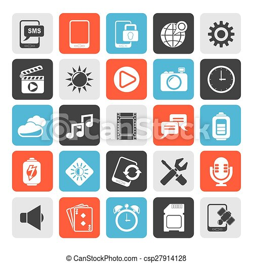 Mobile Phone Interface icons - csp27914128
