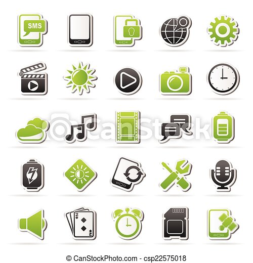 Mobile Phone Interface icons - csp22575018