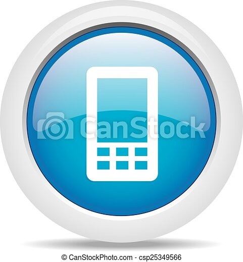 mobile phone isolated on white back - csp25349566