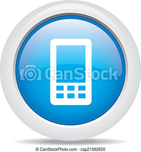 mobile phone isolated on white background - csp21062650