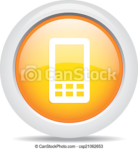 mobile phone isolated on white background - csp21062653