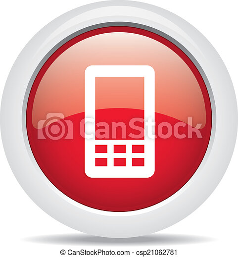 mobile phone isolated on white background - csp21062781