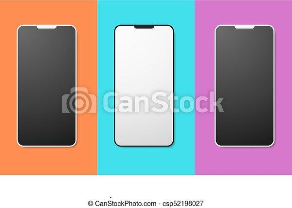 e2ac0448a1e9a6 Mobile phone mockup set app screen templates.