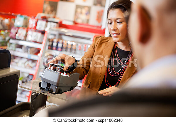 Mobile Phone Payment Using NFC - csp11862348
