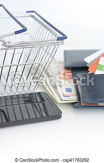 Mobile phone payments or e-commerce - csp41763292