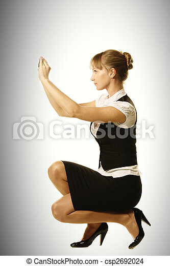 Mobile photographer sideview - csp2692024