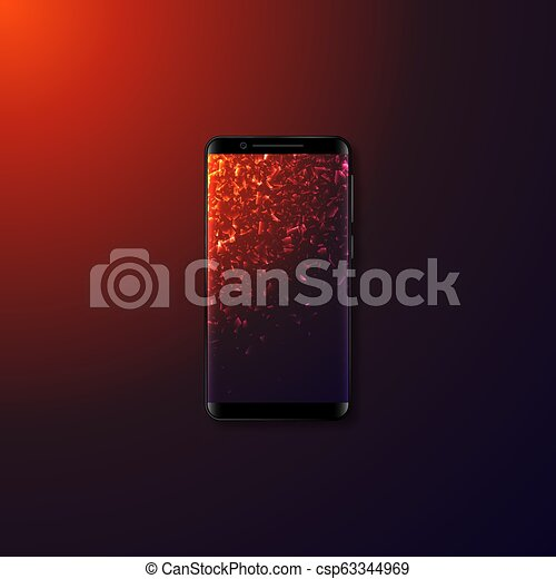 mobile, réaliste, smartphone., 3d - csp63344969