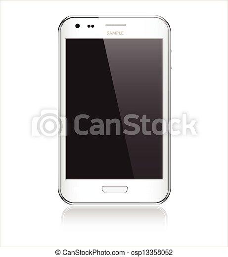 mobile, realistico, telefono - csp13358052