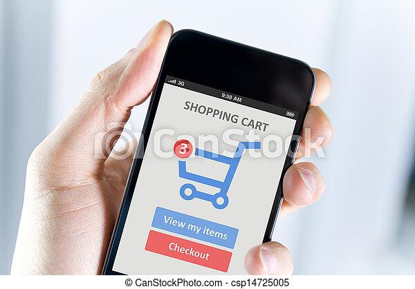 Mobile shopping - csp14725005