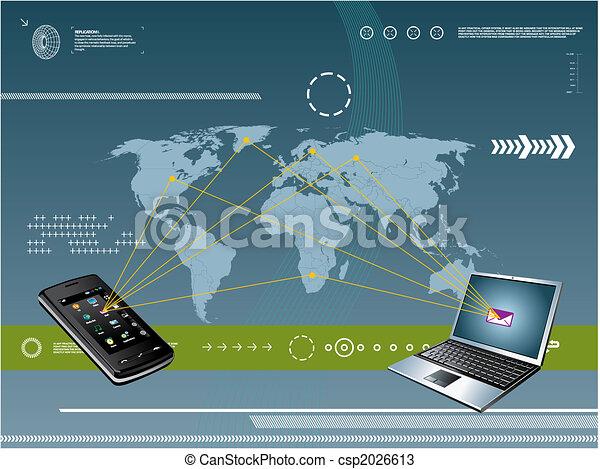 mobile, tecnologia, fondo - csp2026613