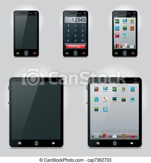 mobile, vecteur, informatique, tablette - csp7362703
