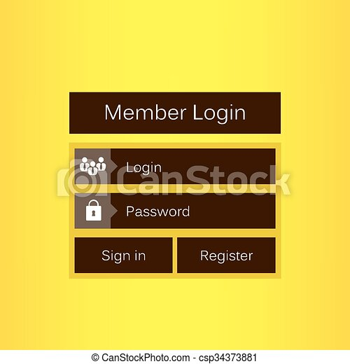 Mobile vector user ui kit form interface  For web page, site bar, art flat  icon, device design theme, modern menu app, contact empty box, modern