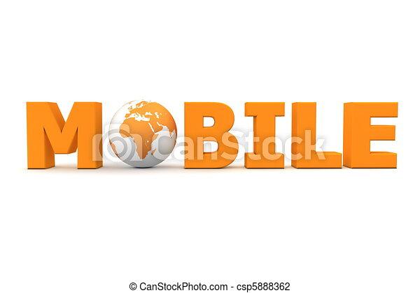 Mobile World Orange - csp5888362