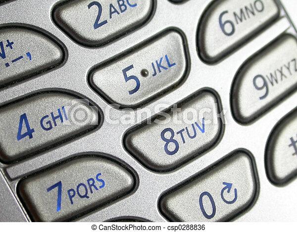 Mobilfunk, polster, schlüssel. Kugel, makro, zelle, polster ...