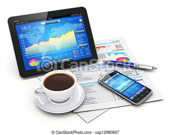 Mobility, business and finance concept - csp12990607
