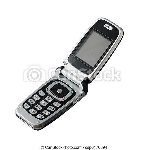 mobiltelefon, gammal - csp6176894