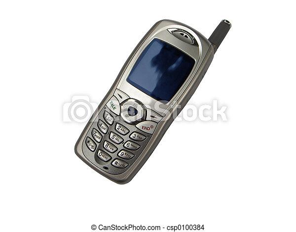 mobiltelefon, isolerat - csp0100384