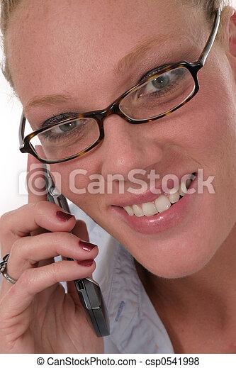 mobiltelefon, kvinna, 6921 - csp0541998