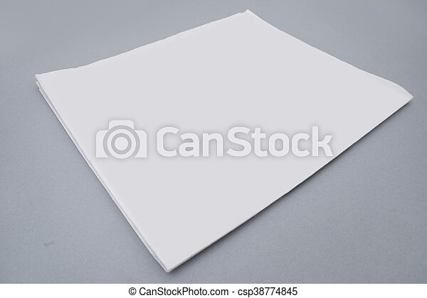 Mock Up Newspaper Cover Template Isolated On Grey Background Ready