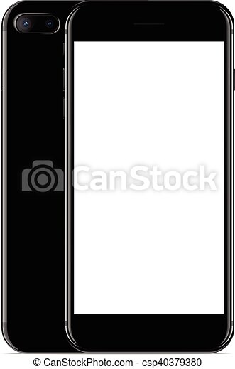 Mockup Colorare Telefono Vettore Fondo Fronte Nero Bianco
