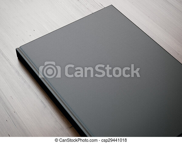 Mockup of blank book on the table. 3d rendering - csp29441018