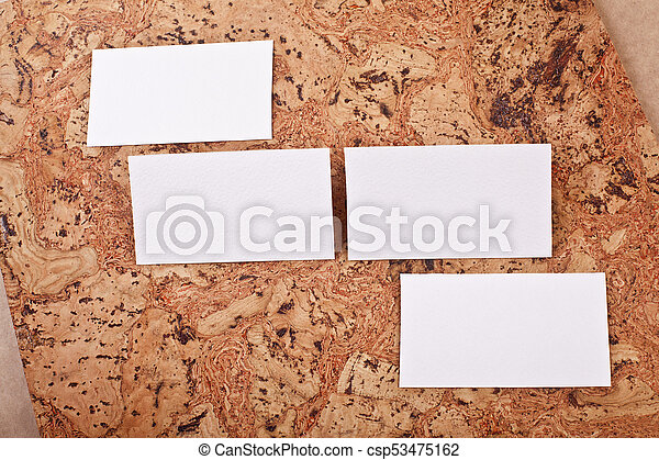 Mockup of white business cards at a cork background template for mockup of white business cards at a cork background csp53475162 colourmoves