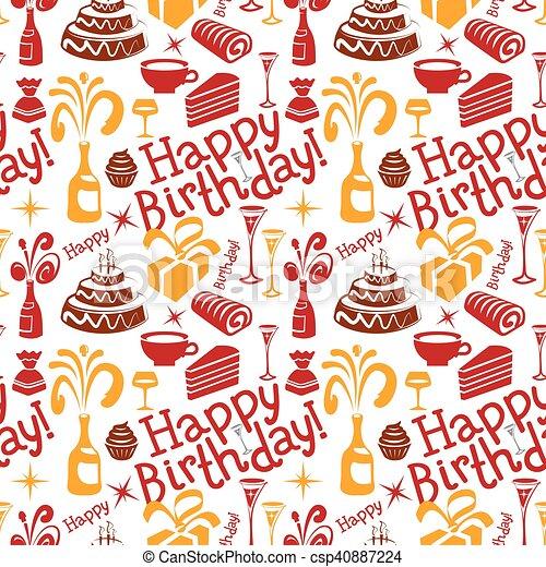modèle, anniversaire, heureux - csp40887224