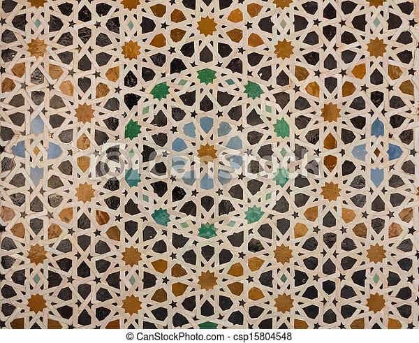 Modele Arabe Carrelage Ou Mosaique Cercles Tuiles Modele Mosquee Maroc Oriental Former Concentrique Mosaique Canstock