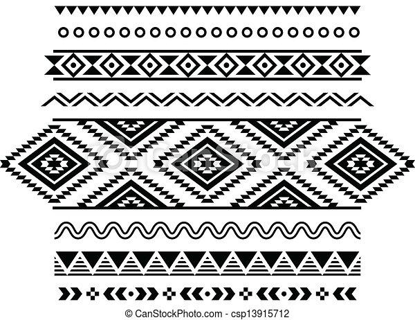 modèle, aztèque, seamless, tribal - csp13915712
