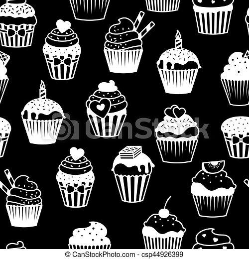 Modèle Blanc Petits Gâteaux Noir