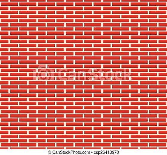 modèle, brique, seamless, mur, briques, plus longtemps - csp26413970