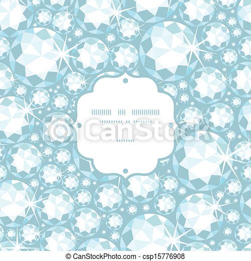 modèle, cadre, seamless, fond, diamants, brillant - csp15776908