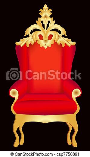modèle, chaise, rouge noir - csp7750891