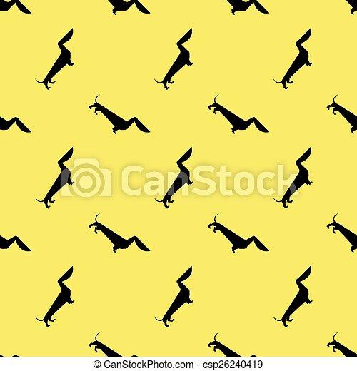 modèle, chien, teckel - csp26240419