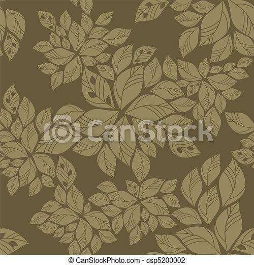 modèle, feuilles, vert, seamless - csp5200002