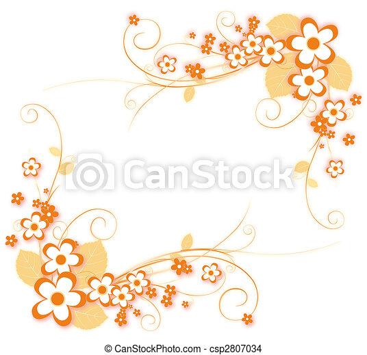 Mod le fleur beau mod le fleur illustration orange - Orange dessin ...
