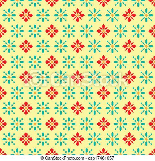 Modèle Fleur Retro Pixel