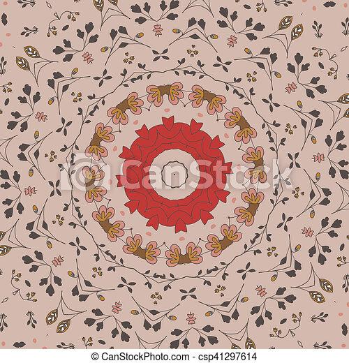 modèle floral, cercle - csp41297614