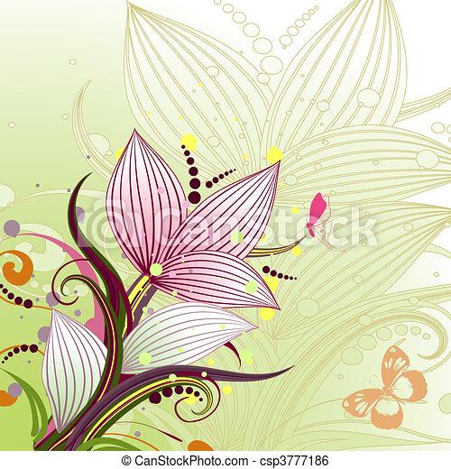 modèle floral, résumé - csp3777186