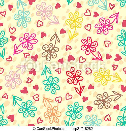 modèle floral, seamless, coloré - csp21718282