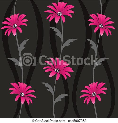 modèle floral, seamless - csp5907982