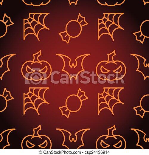 modèle, halloween, seamless - csp24136914