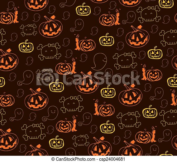 modèle, halloween, seamless - csp24004681