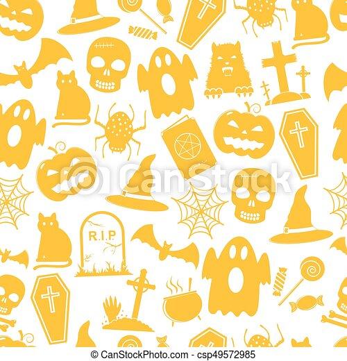 modèle, halloween, seamless - csp49572985
