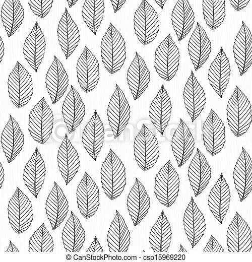modèle, lignes, élégant, mince, pousse feuilles, dessiné - csp15969220
