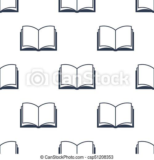 Modele Livre Ouvert Seamless Vecteur School Dos Modele