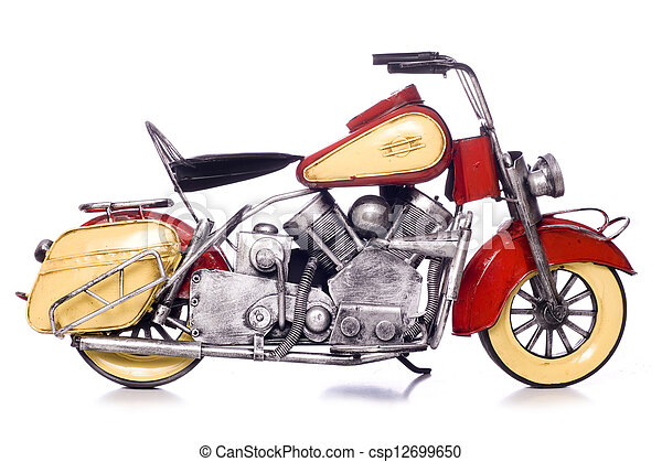 modèle, métal, moto, coupure - csp12699650