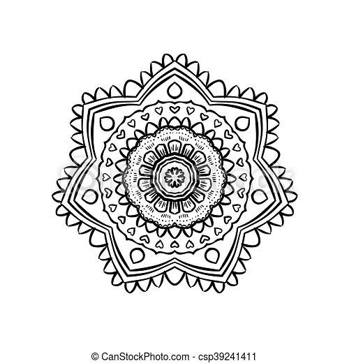 Modele Mandala Yoga Decoratif Mandala Philosophie Connaissance Modele Bouddhiste Arriere Plan Indien Asiatique Canstock